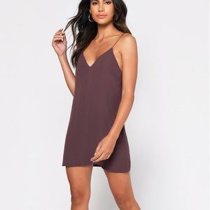 Tobi Yours Truly Wine Burgundy Slip Dress Sz. M